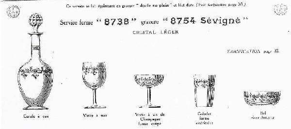 Verre à vin en cristal de Baccarat, modèle Sévigné - 12,4cm