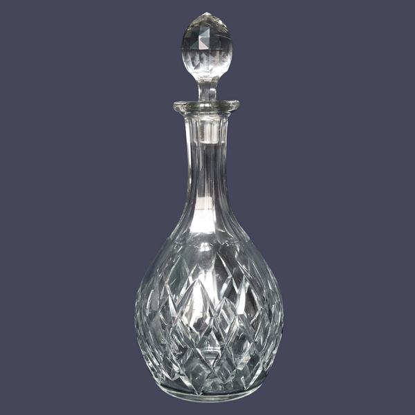 Carafe à vin en cristal de Baccarat, modèle Thorigny - signée - 29,5cm