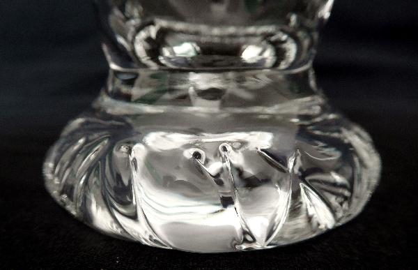FLûte à champagne en cristal de Daum, modèle Kim - signé