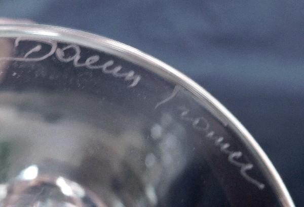 Flûte à champagne en cristal de Daum, modèle Orval - signé