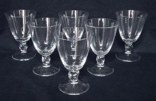 Verre à vin rouge en cristal de Daum, modèle Orval - 10,8cm - signé