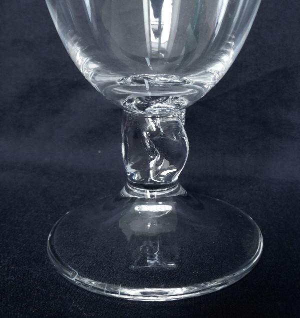 verre vin rouge en cristal de daum mod le orval 10 8cm sign. Black Bedroom Furniture Sets. Home Design Ideas