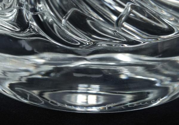 Pichet / broc / carafe à eau en cristal de Daum, modèle Sorcy - signée