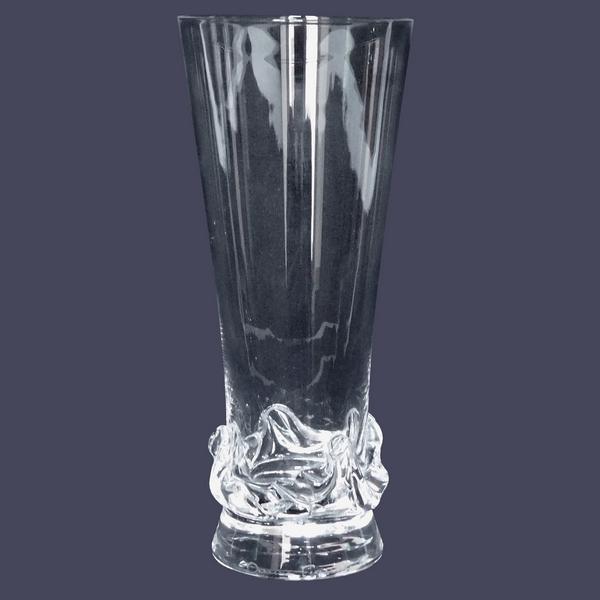 Flûte à champagne en cristal de Daum, modèle Sorcy - signée