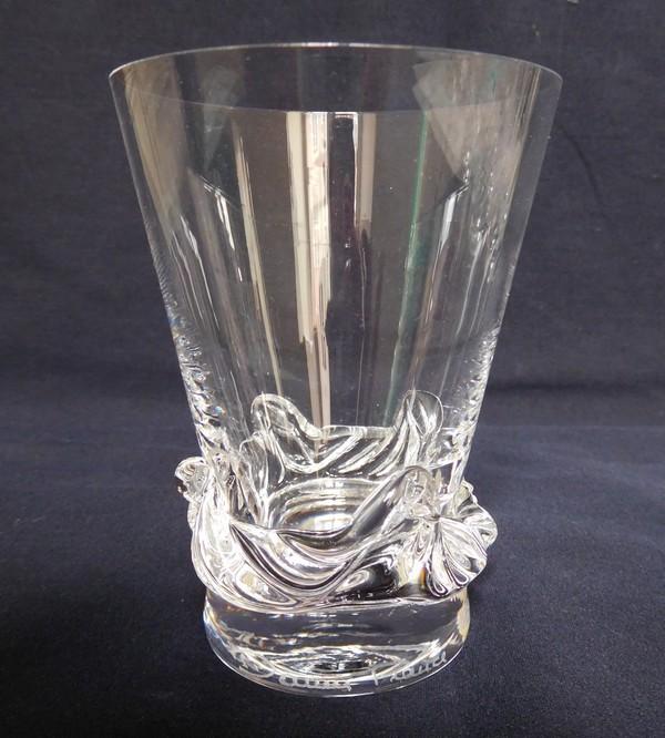 Verre à vin en cristal de Daum, modèle Sorcy - 8,6cm - signé