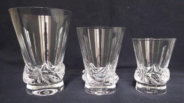 Verre à eau en cristal de Daum, modèle Sorcy - 10,8cm - signé