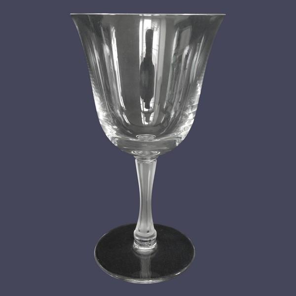Verre à vin en cristal de Lalique, modèle Barsac - 14,2cm - signé