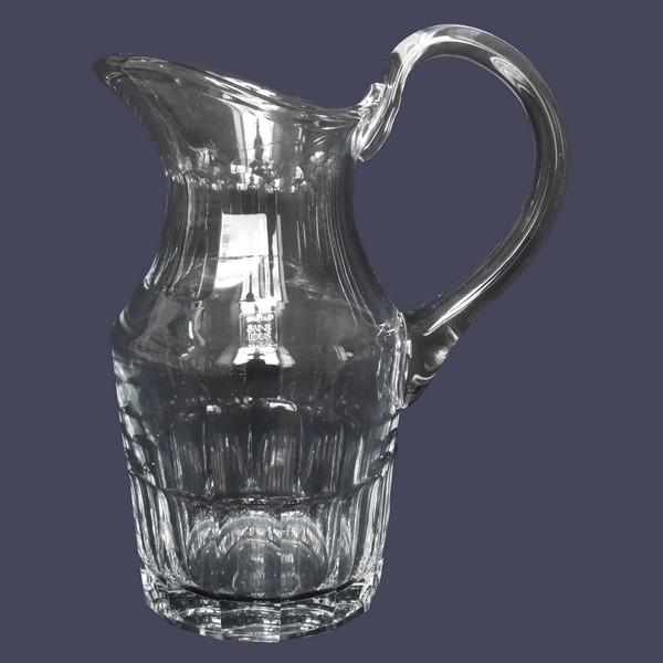 Pichet / broc en cristal de Saint Louis, modèle Caton - signé