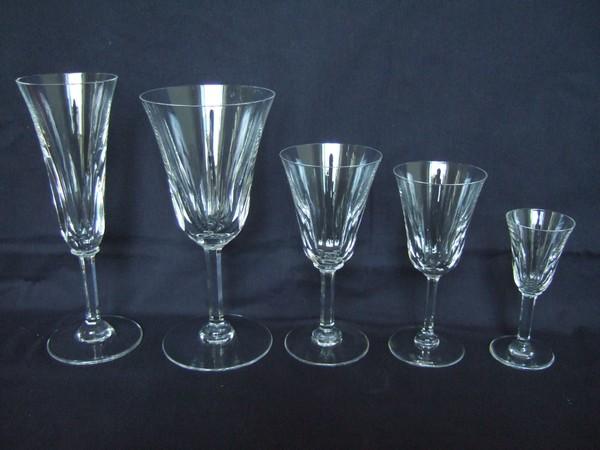 Grand verre eau en cristal de st louis mod le cerdagne 19cm sign - Verre saint louis prix ...