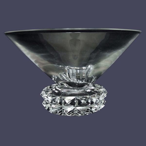Coupe à champagne en cristal de St Louis, modèle Diamant