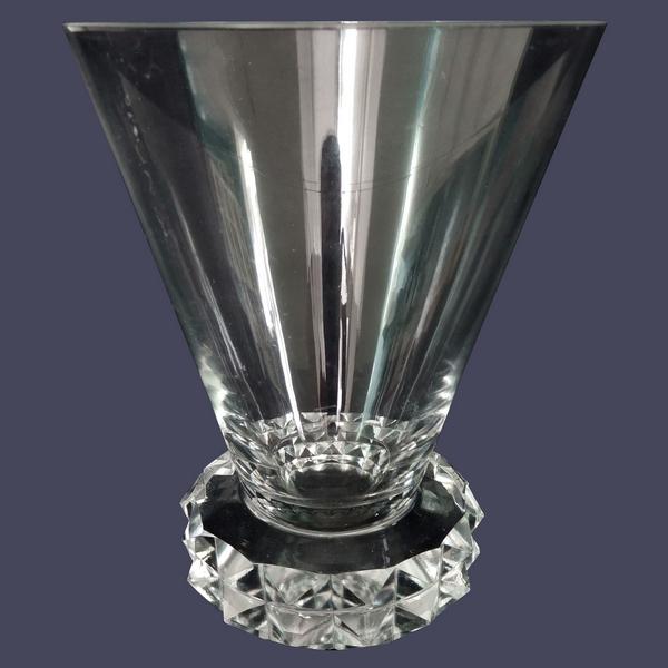 Verre à eau en cristal de St Louis, modèle Diamant - 10,5cm