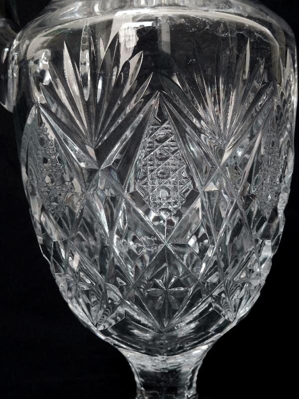 Broc / pichet à eau en cristal de Saint Louis, modèle Florence