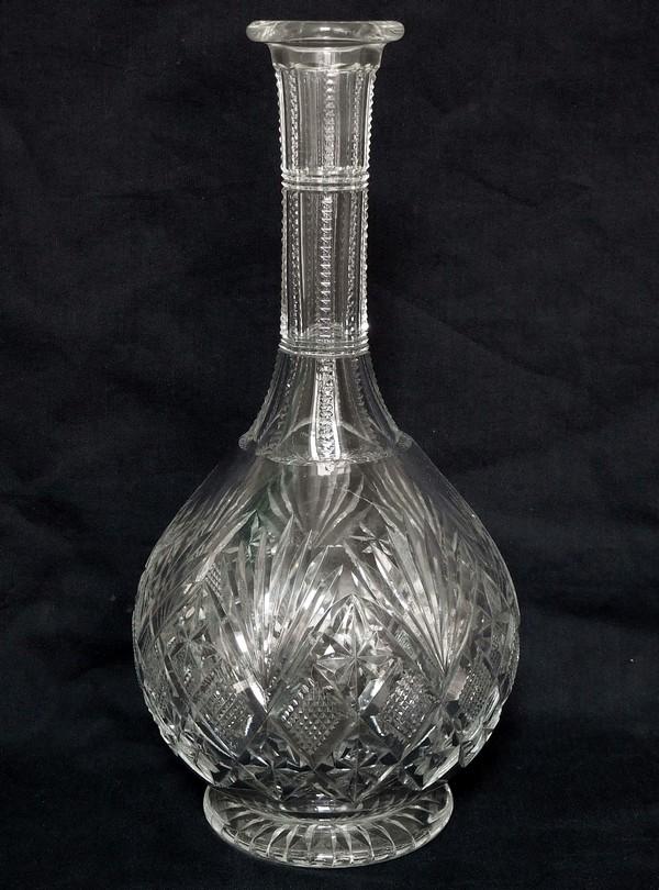 Carafe à vin en cristal taillé de St Louis, modèle Gavarni - signée