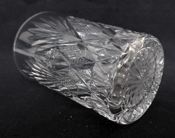 Gobelet / verre à vin ou porto en cristal taillé de St Louis, modèle Gavarni - 8cm