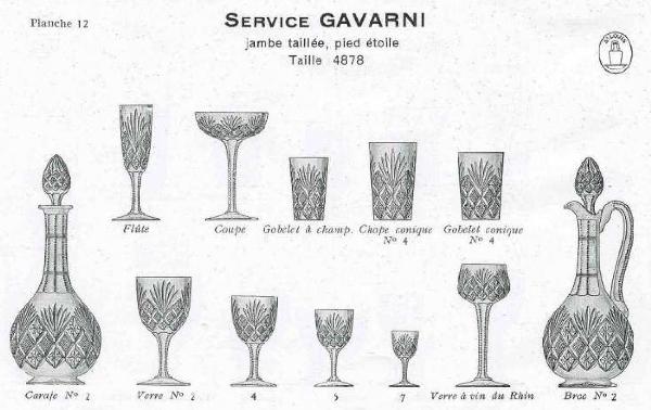 Verre à vin du Rhin en cristal de Saint Louis overlay bleu cobalt, modèle Gavarni