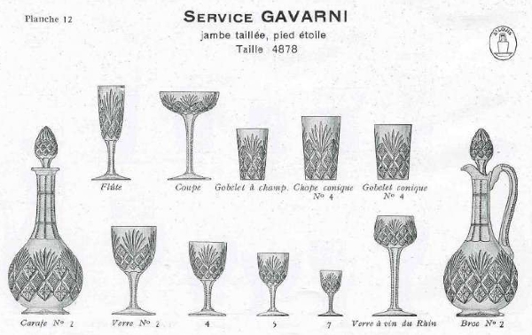 Verre à eau en cristal de Saint Louis, modèle Gavarni - 16,2cm