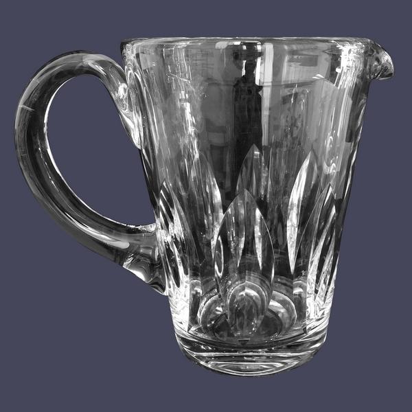 Pichet / broc en cristal de St Louis, modèle Jersey