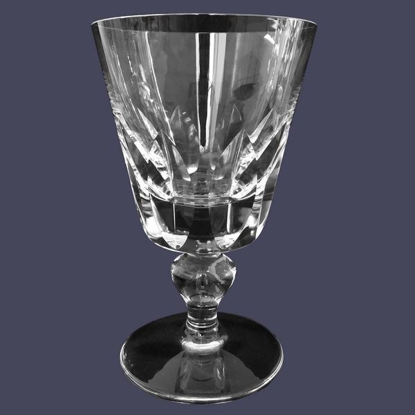 Verre à eau en cristal de St Louis, modèle Jersey - signé - 14,6cm