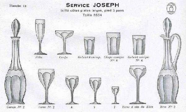 Carafe à liqueur en cristal de Saint Louis, modèle Joseph overlay rose - Art nouveau