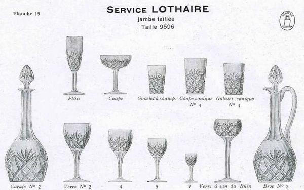 Verre à vin du Rhin en cristal de St Louis overlay vert, modèle Lothaire