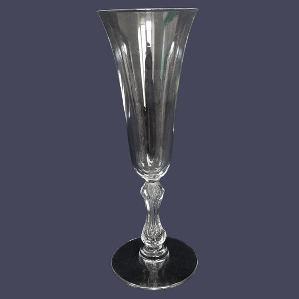 Flûte à champagne en cristal de St Louis, modèle Lozère - 17cm