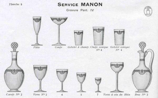Carafe à eau / aiguière en cristal de Saint Louis, modèle Manon