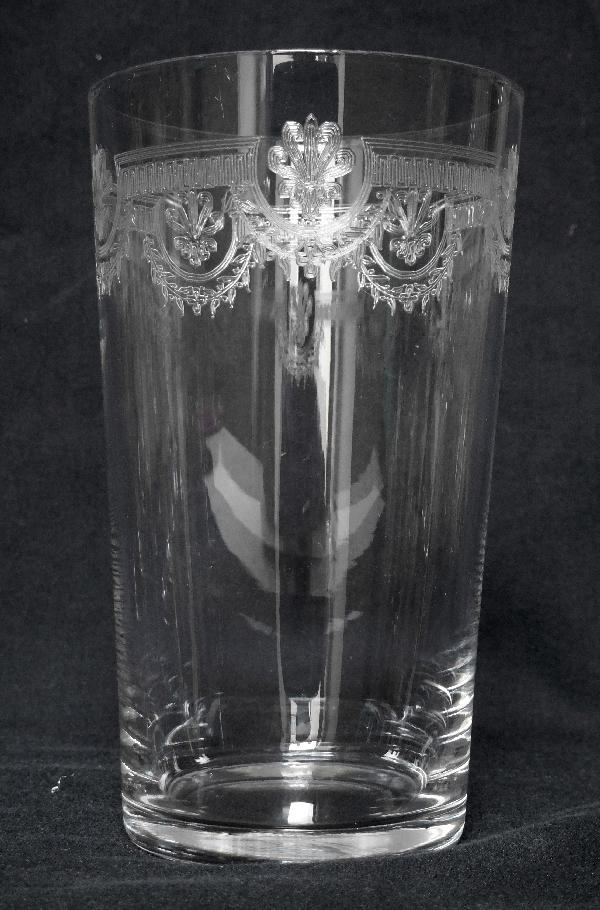Verre à bière en cristal de Saint Louis, modèle Manon