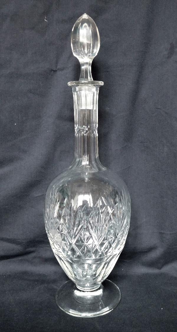 Carafe à vin en cristal de St Louis, modèle Massenet - 35,5cm