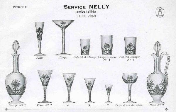 Verre à liqueur en cristal de Saint Louis, modèle Nelly, cristal overlay bleu cobalt