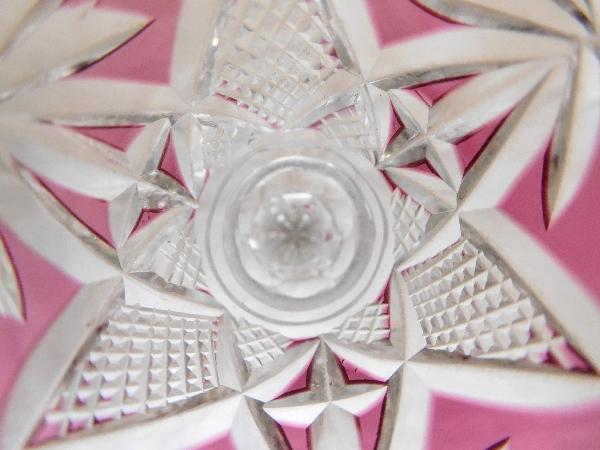 Verre à liqueur en cristal de Saint Louis, modèle Nelly, cristal overlay violine