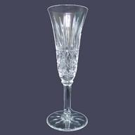 Flûte à champagne en cristal de St Louis, modèle Tarn, signée