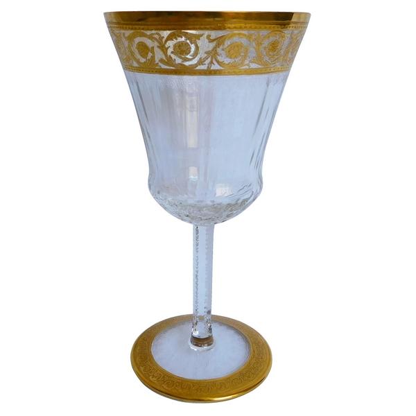 Verre à eau en cristal de Saint Louis, modèle Thistle - signé - 17,9cm