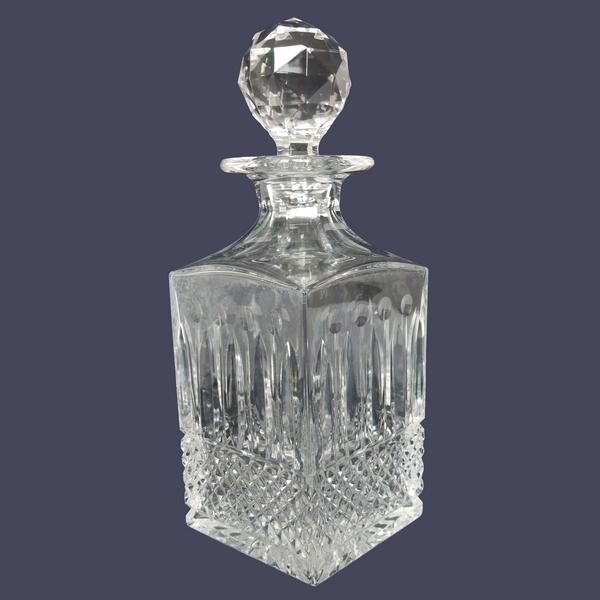 Flacon à whisky en cristal de Saint Louis, modèle Tommy - signé