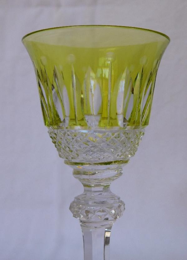 Verre à liqueur en cristal de St Louis, modèle Tommy, cristal overlay vert chartreuse - 13,4cm