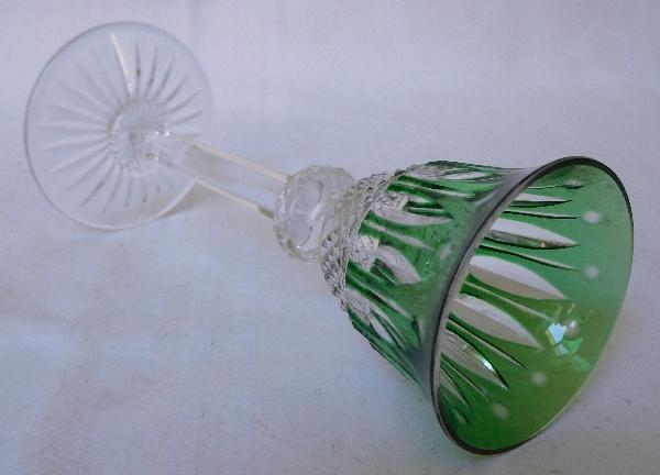 Verre à liqueur en cristal de St Louis, modèle Tommy, cristal overlay vert - 13,4cm
