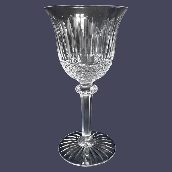 Verre à vin en cristal de St Louis, modèle Tommy - signé - 13,8cm
