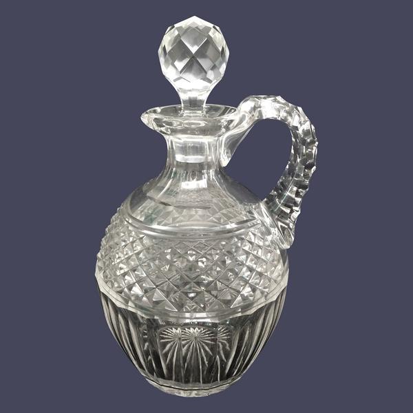 Flacon à whisky en cristal de St Louis, modèle Trianon