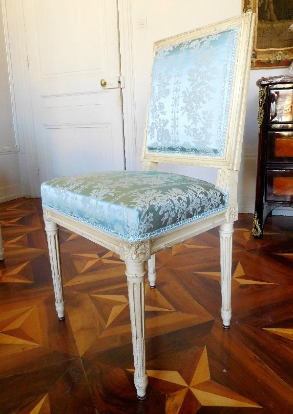 de 8 chaises de salle à manger de style Louis XVI, garniture de ...