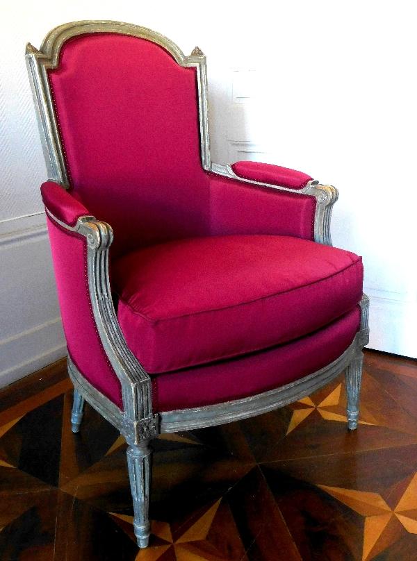 Bergère d'époque Louis XVI estampillée de Martin Delaporte