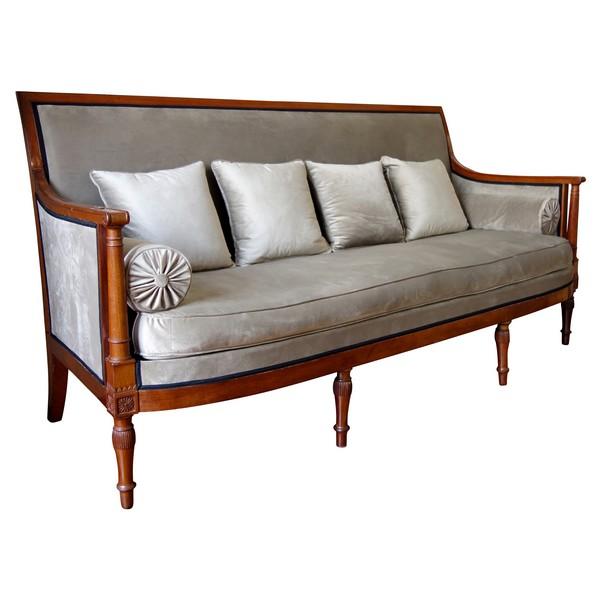 Georges Jacob : canapé sofa d'époque Directoire en acajou - estampillé