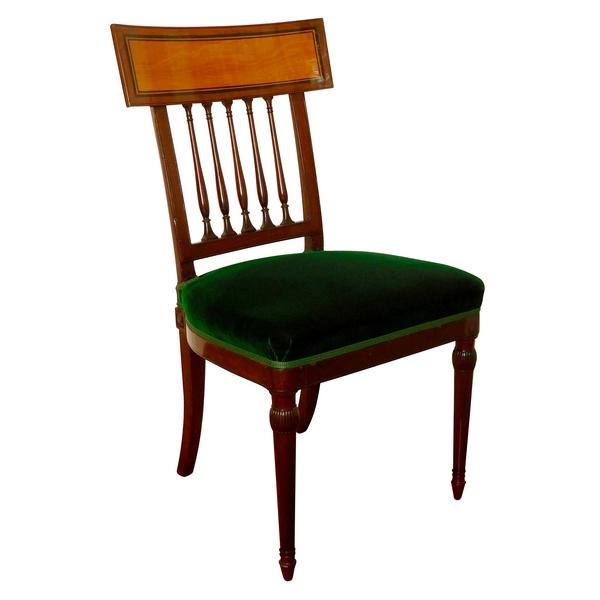 Chaise à l'étrusque en acajou et citronnier d'époque fin XVIIIe siècle estampillée Georges Jacob
