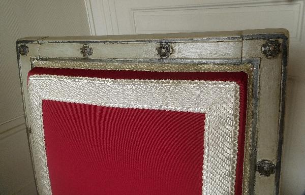 Jacob Desmalter, Château de Fontainebleau : paire de chaises d'époque Empire, galons au fil d'argent