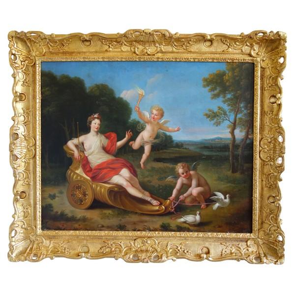 Ecole Française du début XVIIIe siècle, le Char de Vénus, tableau mythologique - 81cm x 65cm