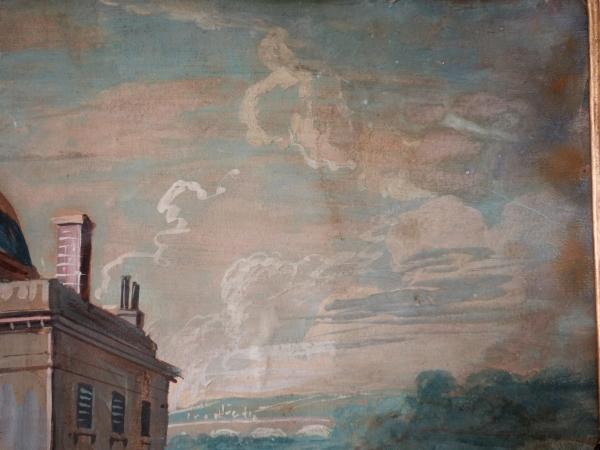 Ecole Française fin XVIIIe siècle, Le Château de Bagatelle - Gouache