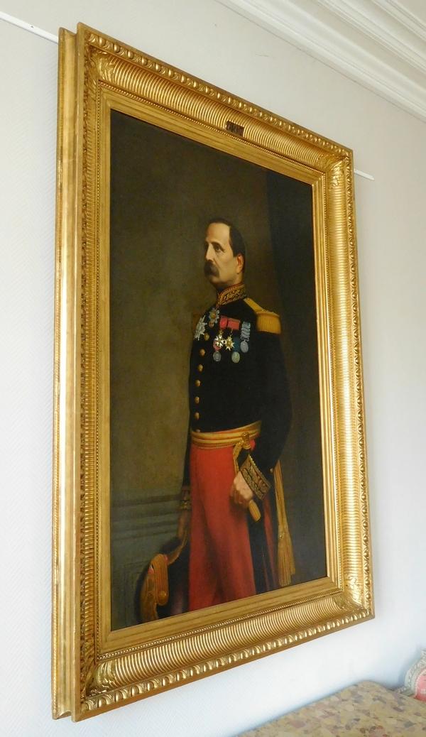 Grand portrait du Général Barral par Eugène Laville, Salon de 1869 - 175cm x 124cm