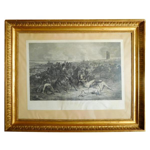 Gravure Empire, Bataille de Wagram, Maréchal Bessières