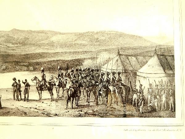 Gravure : Le camp de l'Armée Russe devant Choumla (Choumen) en 1828 - 9e Guerre Russo-Turque
