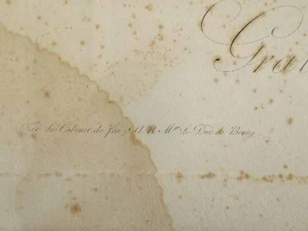 Grande gravure napoléonienne par Vernet : le Chien Du Régiment, cadre en bois doré époque Empire