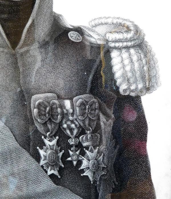 Portrait du Comte d'Artois futur Roi Charles X - gravure d'époque Restauration - 69cm x 79cm