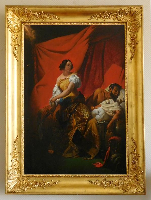 Judith et Holopherne, grande huile sur toile d'après Horace Vernet vers 1830